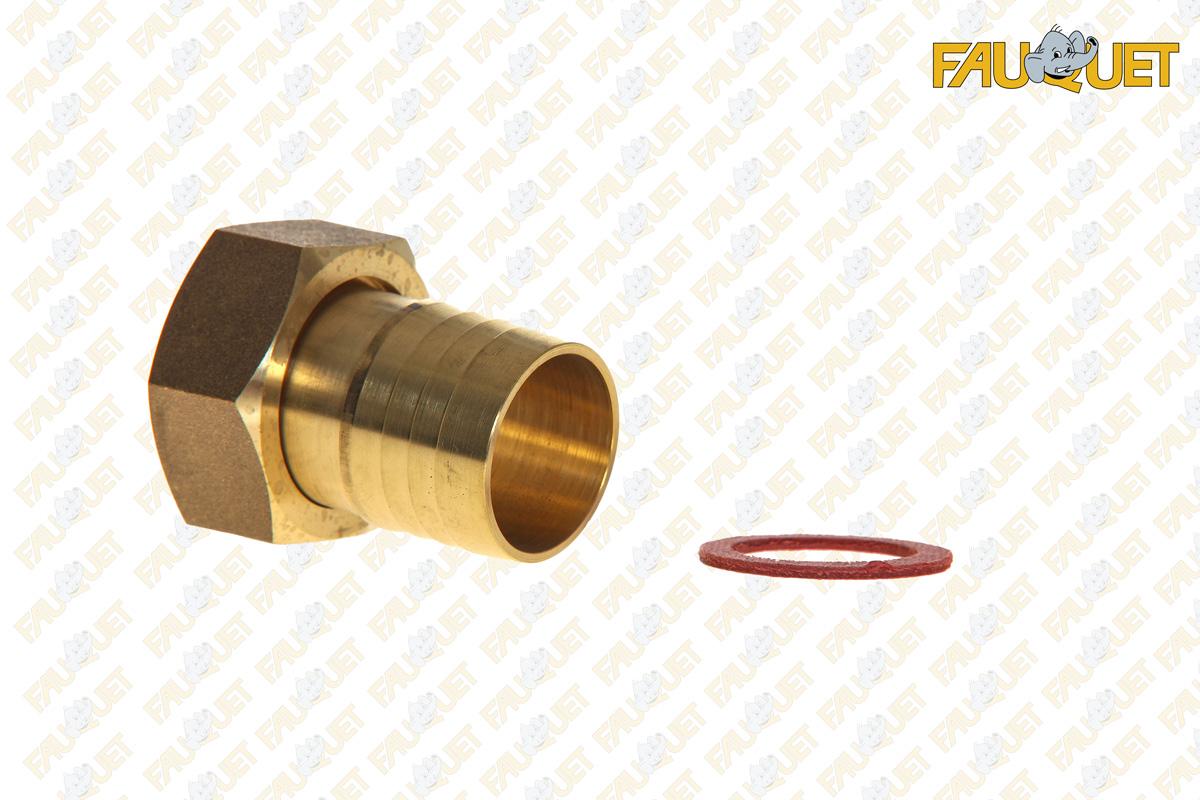 Female brass fitting for polyethylene