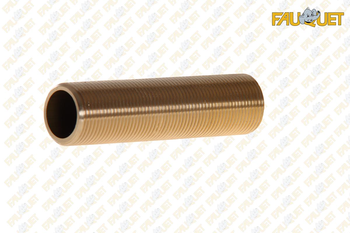 Threaded brass gas pipe