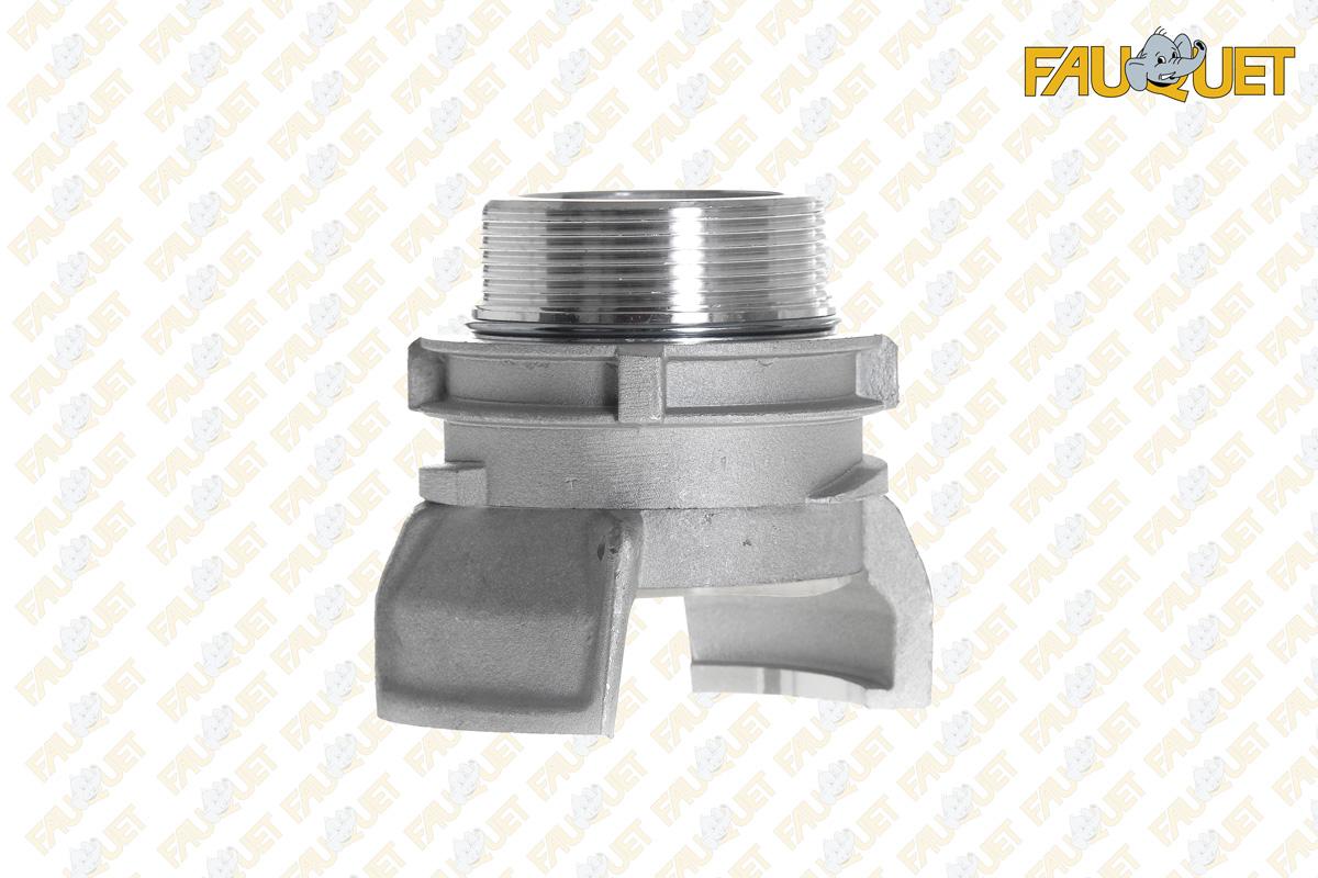 Semi-symmetrical aluminum fitting