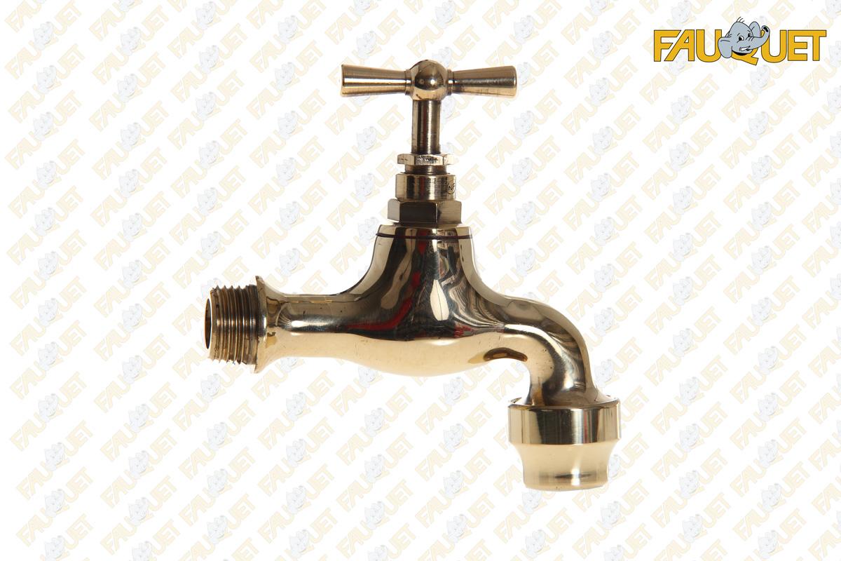Spout tap polished brass