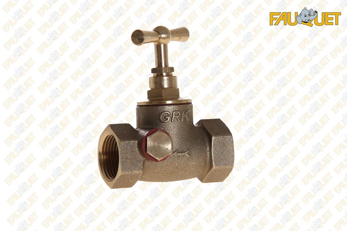 Shut-off valve (female-female) with purge