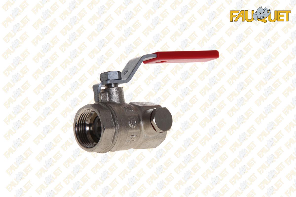 Ball valve with purge
