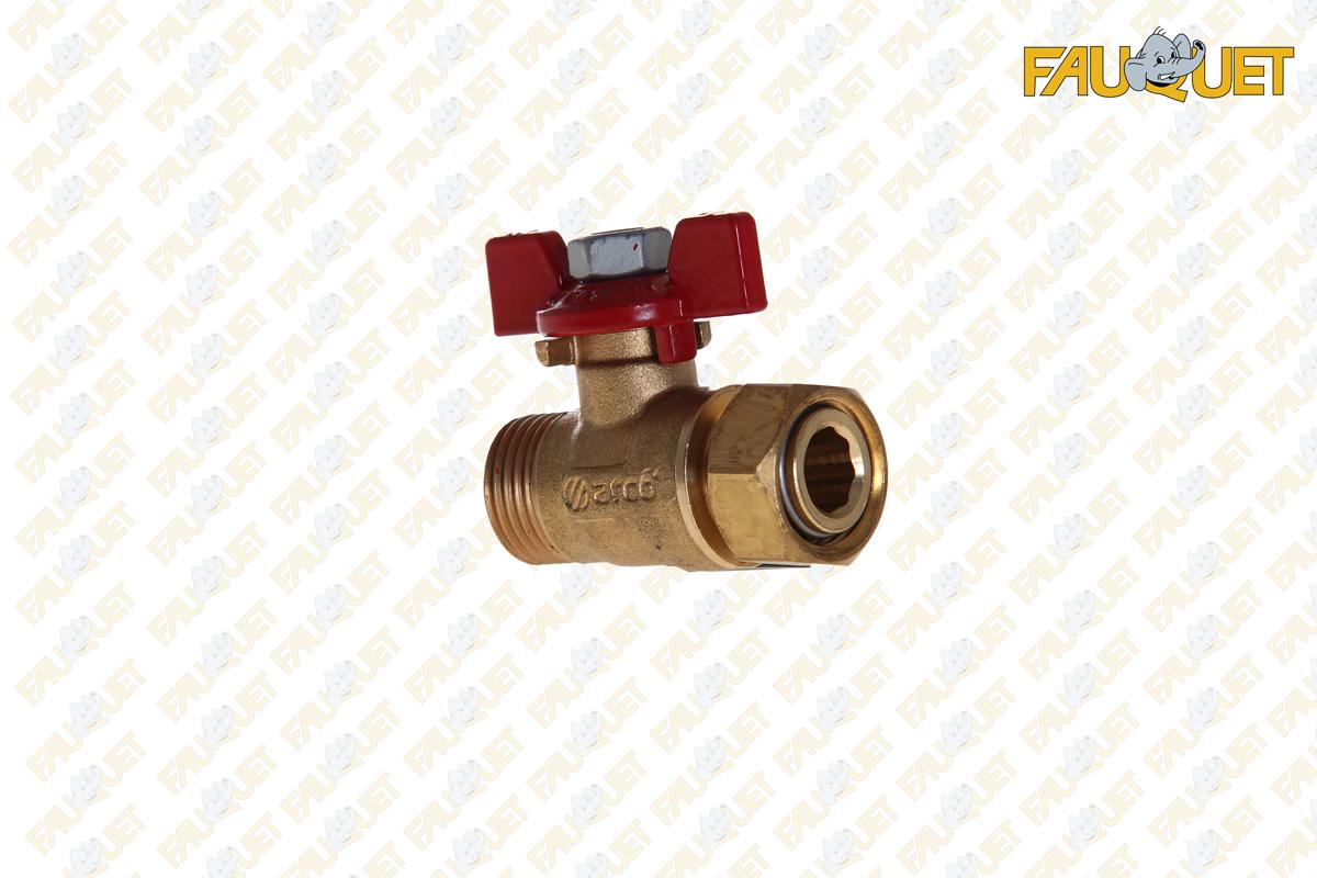 Ball valve with cap nut