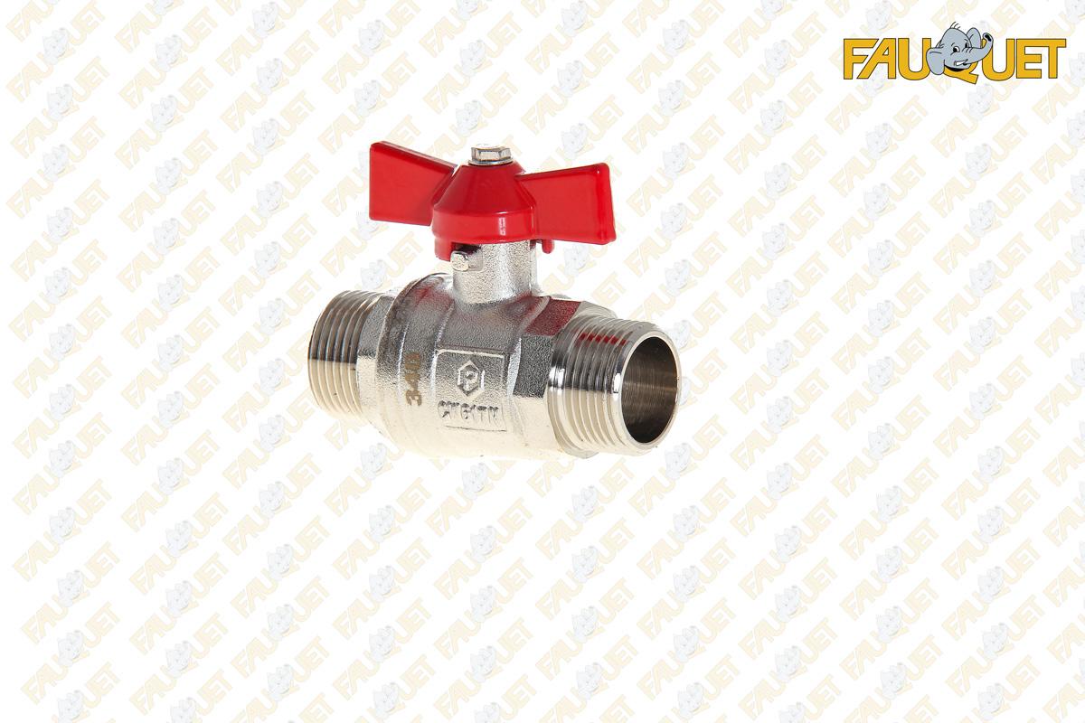 Full-bore ball valve (male-male)