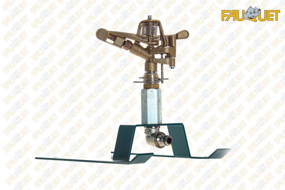 ATL1 brass barrel sprinkler on steel sled