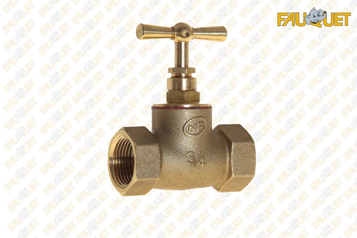 Double female shut-off valve