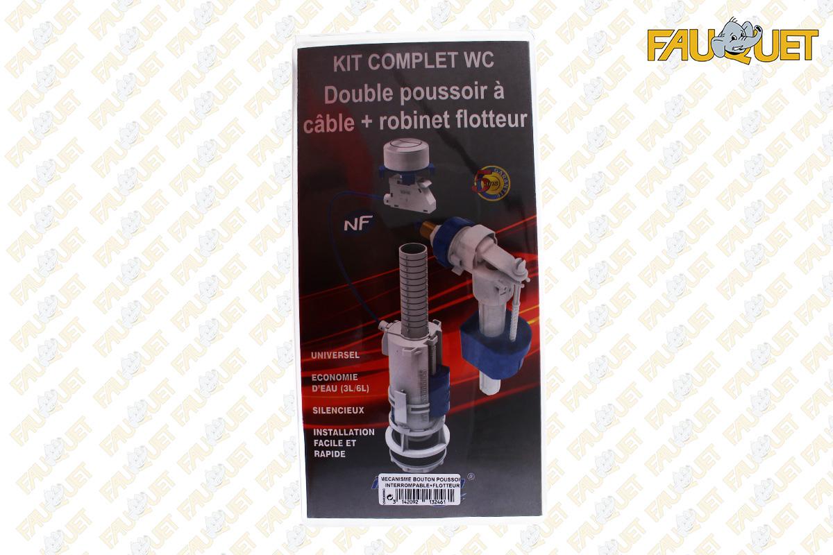 3L / 6L double action push button cable toilet mechanism with float valve servo / valve model